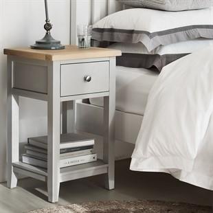 Chester Dove Grey 1 Drawer Bedside