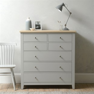 Chester Dove Grey 4 over 3 Large Chest of Drawers