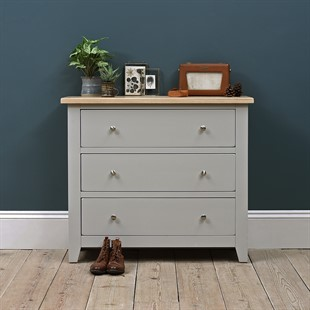 Chester Dove Grey 3 Drawer Chest