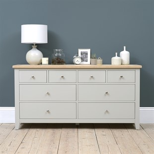 Chester Dove Grey Low and Wide Chest