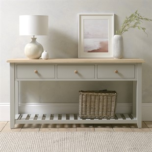 Chester Dove Grey NEW Large Console Table