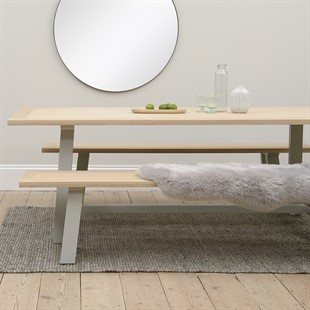 Chester Dove Grey Large Trestle Table