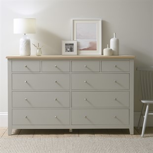 Chester Dove Grey NEW 10 Drawer Chest
