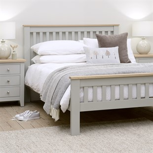 """Chester Dove Grey 4ft 6"""" Double Bed"""