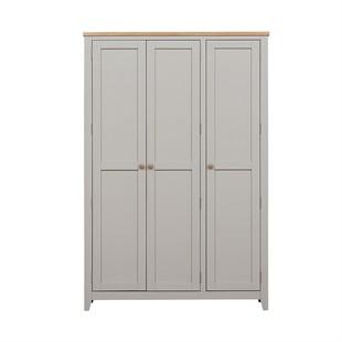 Chester Dove Grey 3 Door Hallway Cloakroom