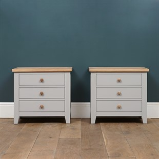 Chester Dove Grey Set of 2 Jumbo Bedsides