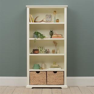Farmhouse Painted Large Bookcase - Ivory