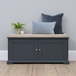 Westcote Blue Shoe Bench with Doors
