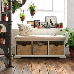 Farmhouse Painted Hall Bench