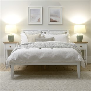 Pensham Pure White 4ft Small Double Bed - White