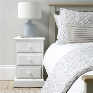 Pensham Pure White 3 Drawer Bedside