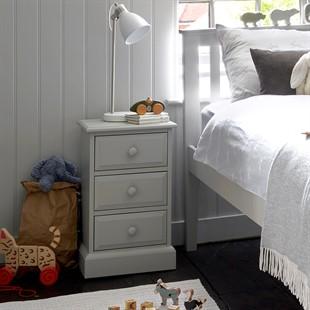 Pensham Dove Grey 3 Drawer Bedside