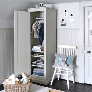 Pensham Dove Grey Single Wardrobe