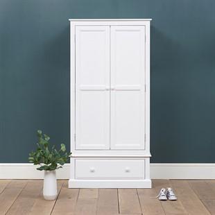 Pensham Pure White Narrow Double Wardrobe