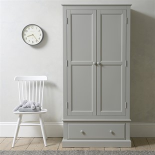 Pensham Dove Grey Narrow Double Wardrobe