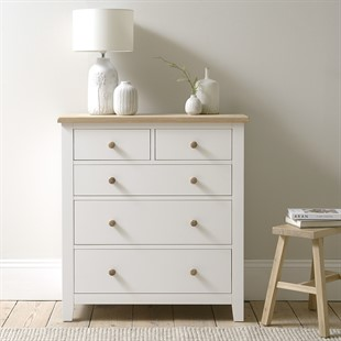 Chester Pure White NEW 2+3 Chest of Drawers