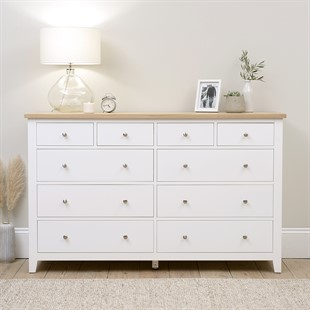Chester Pure White NEW 10 Drawer Chest