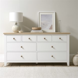 Chester Pure White Low & Wide Chest