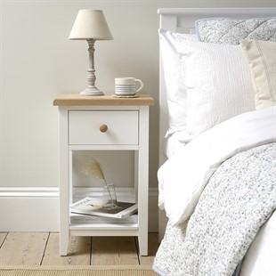 Chester Pure White NEW 1 Drawer Bedside