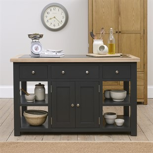 Chester Charcoal Large Kitchen Island