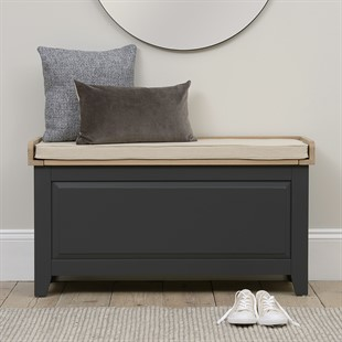 Chester Charcoal Large Shoe Storage Trunk and Bench