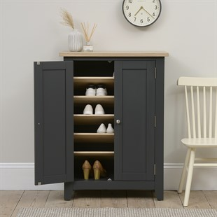 Chester Charcoal Large Shoe Cupboard