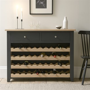 Chester Charcoal NEW Wine Console