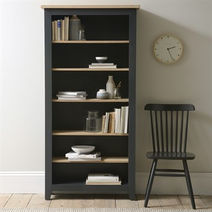 Chester Charcoal NEW Large Bookcase
