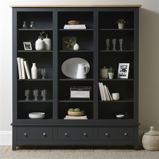 Chester Charcoal NEW Grand Bookcase