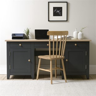 Chester Charcoal NEW Double Pedestal Desk