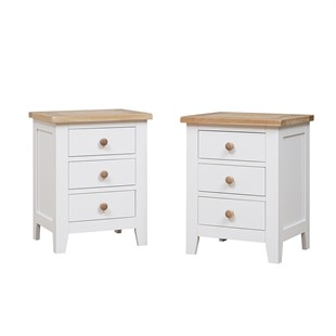Chester Pure White Set of 2 Bedsides