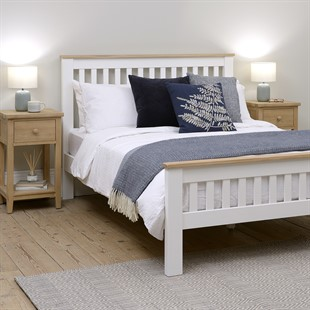 """Chester Pure White 4ft 6"""" Double Bed"""