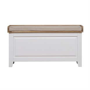 Chester Pure White NEW Large Shoe Storage Trunk and Bench