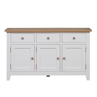 Chester Pure White 3 Door Sideboard