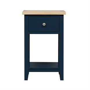 Chester Midnight Blue 1 Drawer Bedside