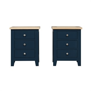 Chester Midnight Blue Set of 2 Bedsides