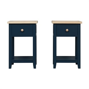Chester Midnight Blue Set of 2 Nightstands