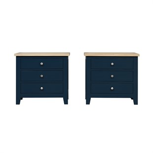 Chester Midnight Blue Set of 2 Jumbo Bedsides