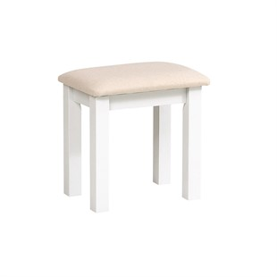 Snowshill Pure White Dressing Stool