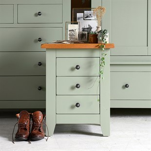 painted green furniture. Charlton Green Painted 3 Drawer Bedside Furniture