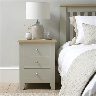Chester Stone 3 Drawer Bedside