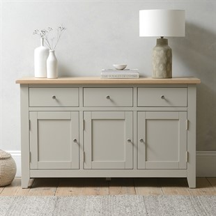 Chester Stone 3 Door Large Sideboard