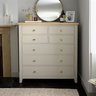 Chester Stone 4 over 3 Large Chest of Drawers