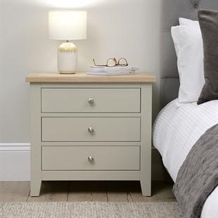 Chester Stone NEW 3 Drawer Jumbo Bedside