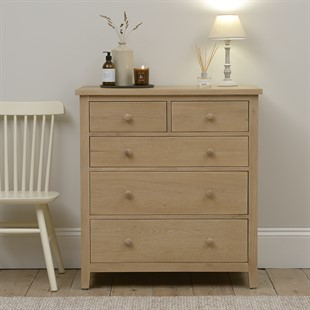 Chester Oak 2+3 Chest of Drawers
