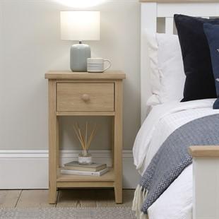 Chester Oak NEW 1 Drawer Bedside