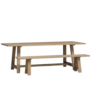Chester Oak NEW Mid-Size Trestle Table