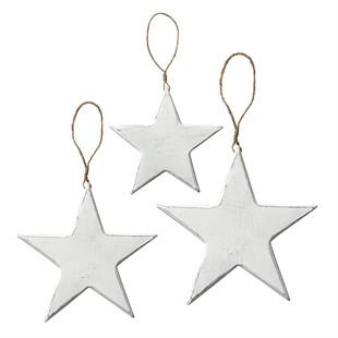 Set of 3 Vintage Wooden Stars
