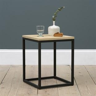 Moreton Metal & Oak Side Table