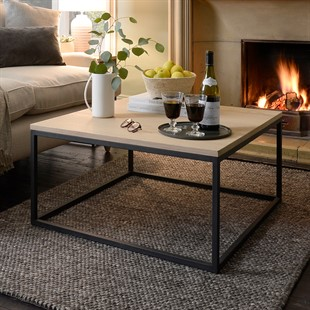 Moreton Metal & Oak Coffee Table